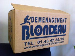 carton  Blondeau déménagement