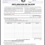declaration de valeur