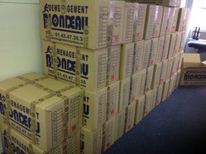 Blondeau archives cartons numérotés
